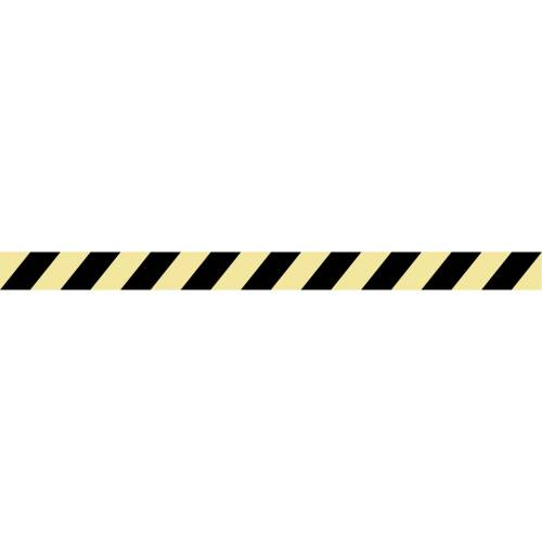 Langnachleuchtende Plastikstreifen für Warnung vor möglichen Gefahren 1200x35mm