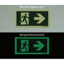 Rettungszeichen Türgriffhinterlegung links