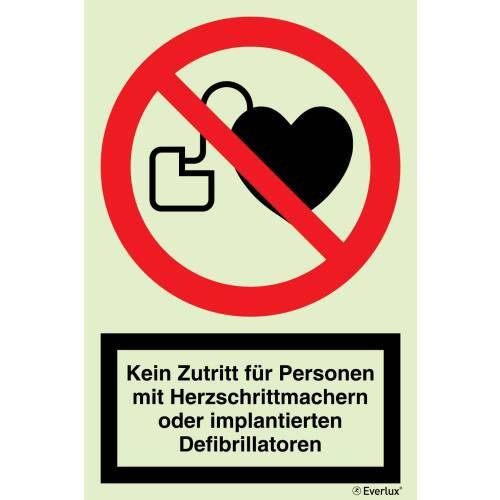 Verbotszeichen Verbot für Personen mit Herzschrittmacher SN EN ISO 7010
