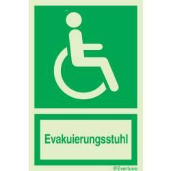 Rettungszeichen Symbole Evakuierungsstuhl