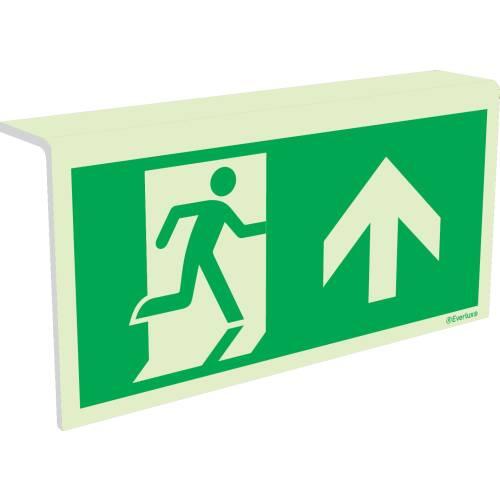 Rettungszeichen durch Tür Deckenmontage