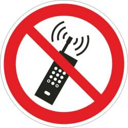 Verbotszeichen - Mobilfunk verboten ISO 7010