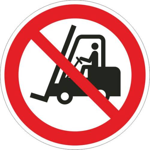 Verbotszeichen - Flurförderfahrzeuge verboten ISO 7010