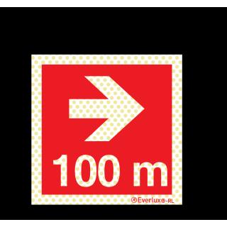 Pfeil nach rechts 100 Meter