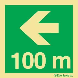 Nach links 100 Meter