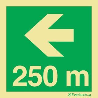 Nach links 250 Meter
