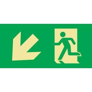 links abwärts