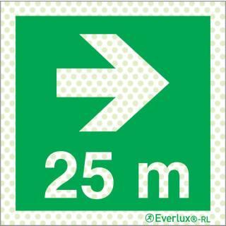 Rechts 25 Meter